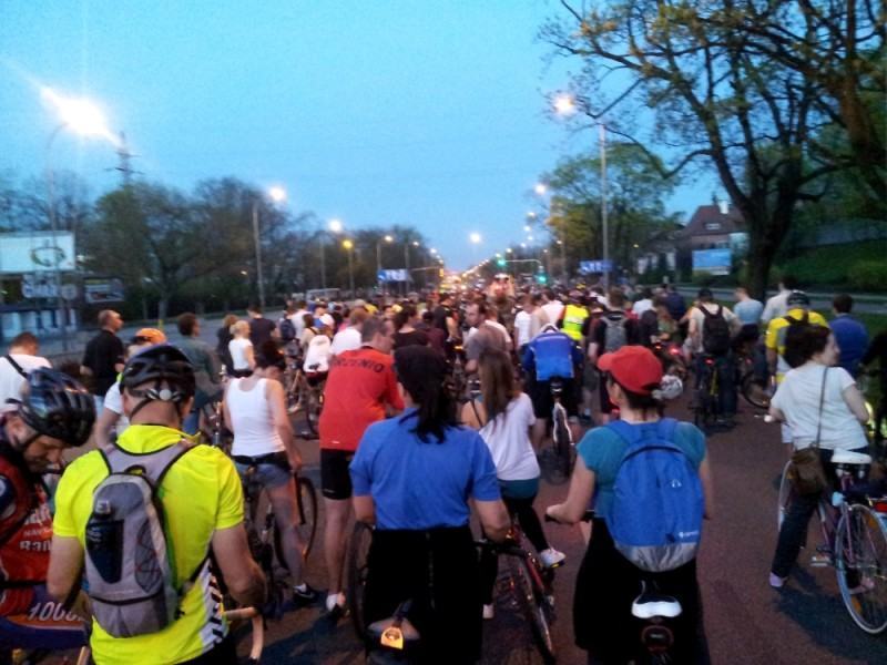 1500 cyclists in the critical mass