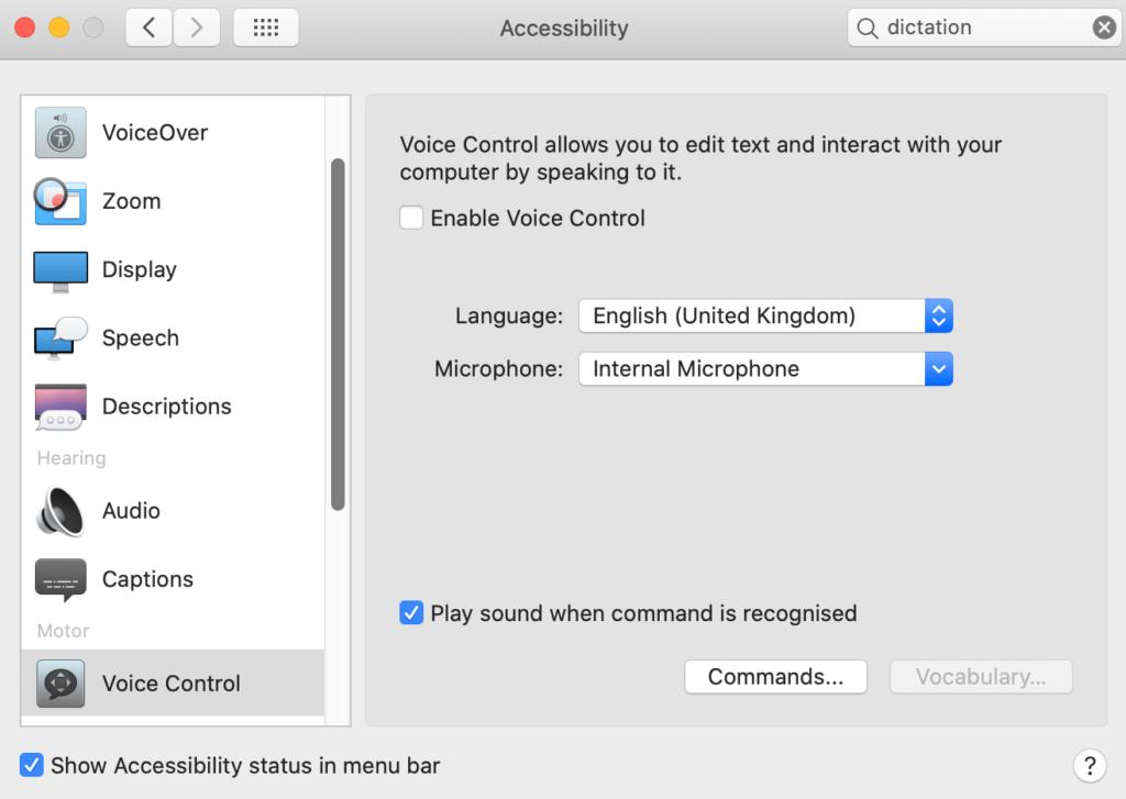 toegankelijkheidsopties Mac